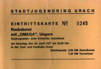 Eintrittslarte 1977